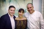 Tim Creehan with Elaine Honig and Demetrius Fuller
