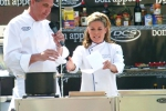 Cat Cora and Tim Creehan