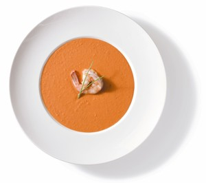 Tim Creehan's Signature Smoked Tomato and Shrimp Soup - Recipes