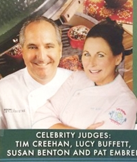 Tim Creehan and Lucy Buffet on Celebrity Judge Detail