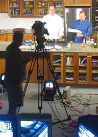 Behind the scenes as Tim Creehan hosts Emerald Coast Chefs with the Food Network's Luca Paris